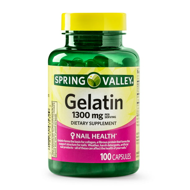 (2 Pack) Spring Valley Gelatin Capsules, 1300 mg, 100 Ct