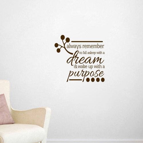 Sweetums Wall Decals Wake Up With a Purpose Wall Decal