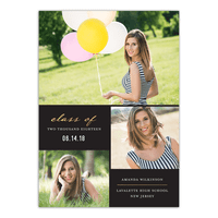 Elegant Grad Graduation Announcement