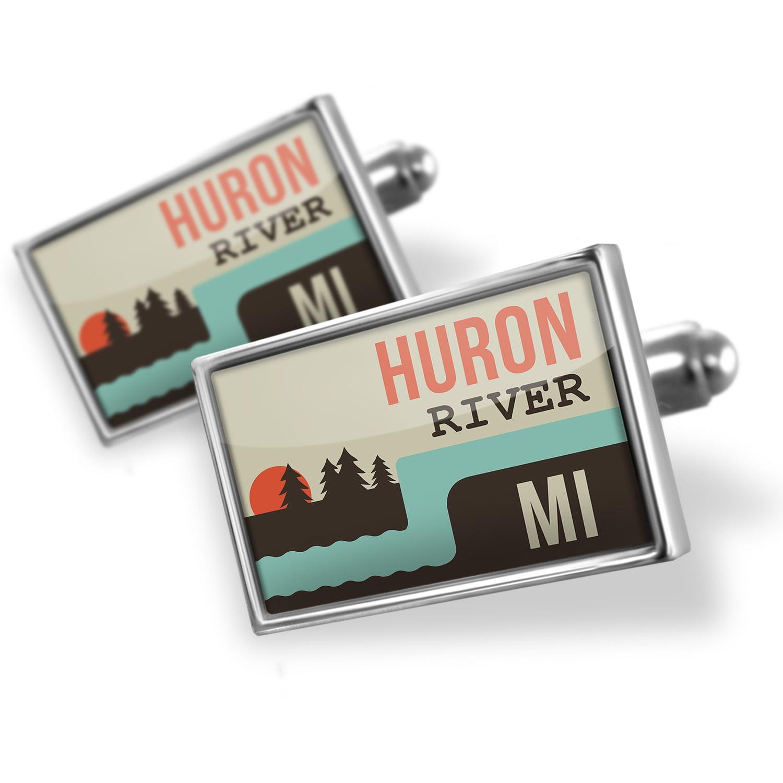 Cufflinks USA Rivers Huron River - Michigan - NEONBLOND