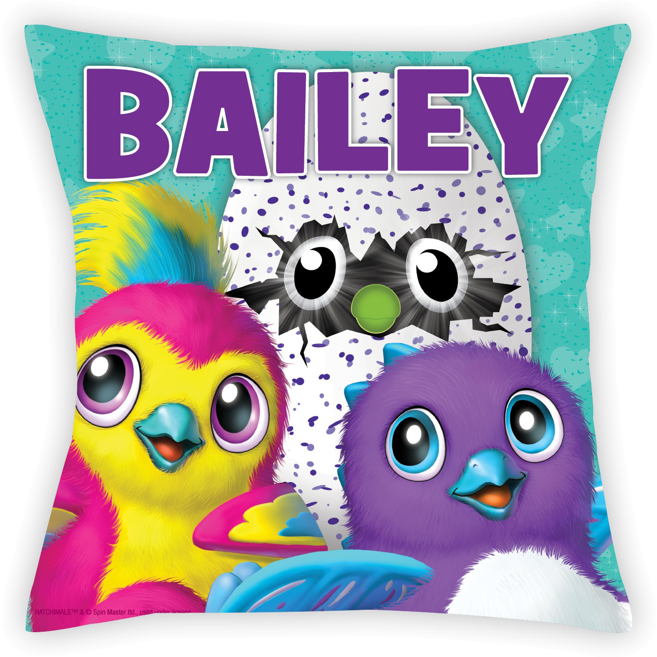 Personalized Hatchimals Throw Pillow for Kids