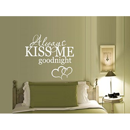 Always kiss me goodnight with Hearts #11 ~ Wall or Window Decal 22