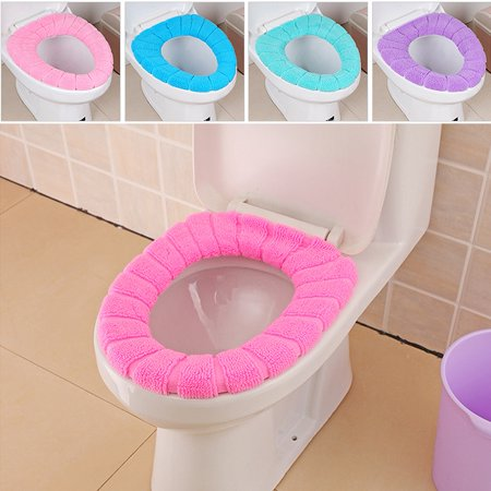 Toilet Seat Covers Walmart.4 Colors O Type Soft Toilet Closestool Lid Seat Cover Home Bathroom Warm Mat Washable Elastic Toilet Lid Seat Cover Washable Toilet Seat Lid Cover