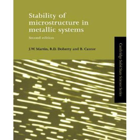 Stability of Microstructure in Metallic Systems - image 1 de 1