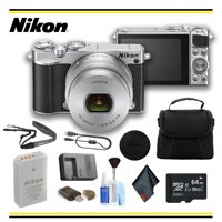 Nikon 1 J5 Mirrorless Digital Camera with 10-30mm Lens (Silver) Starter Bundle - (Intl Model)