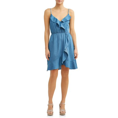 Belle Dress For Sale (Women's Ruffle Front Denim)