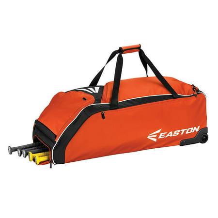 Easton E610W Wheeled Baseball Bag, Orange (Best Wheeled Baseball Bag)