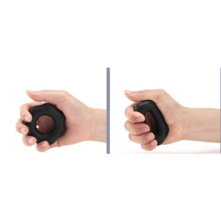 Silica Gel Portable Muscle Power Training Silicone Grip Ring Exerciser Strength Finger Hands Grip Fitness Equipement Black
