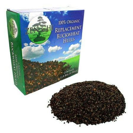 buckwheat pillow replacement hulls: zen chi 100% organic premium buckwheat hulls - 2 lb refill