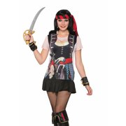 Adult's Womens Swashbuckler Pirate Printed Costume Sublimation Shirt by Forum Novelties