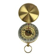Classic Portable Pocket Style Hiking Camping Glow in the Dark Clamshell Compass