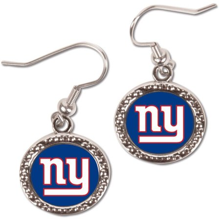 - New York Giants WinCraft Women's Round Dangle Earrings - No Size