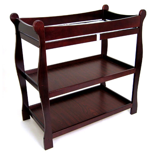 Badger Basket Sleigh Changing Table, Cherry
