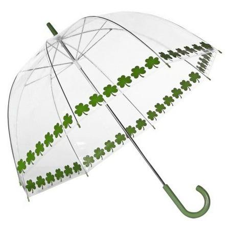 Elite Rain Frankford RB01-SS Clear Printed Bubble Umbrella, Shamrock String ()