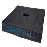 "Gravipod 18"" Square Umbrella Base Weight Bag - Up to 110 lbs."