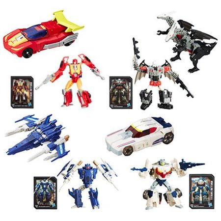 [ Hot Rod - Doublecross - Triggerhappy - Breakaway ] Transformers Generations Titans Return Wave 3 (Collector Set of 4) Cybertron Deluxe Action Figure 1980s Retro Robot Toy Playset Collectible