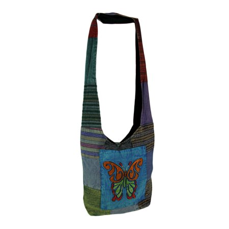 Tribal Butterfly Colorful Cotton Boho Crossbody