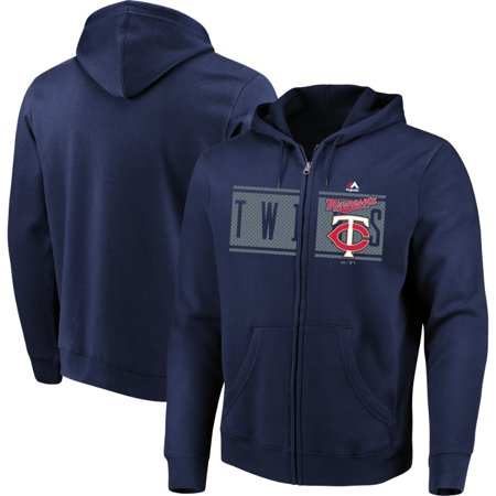 Minnesota Twins Majestic Piercing Attack Full-Zip Hoodie - Navy
