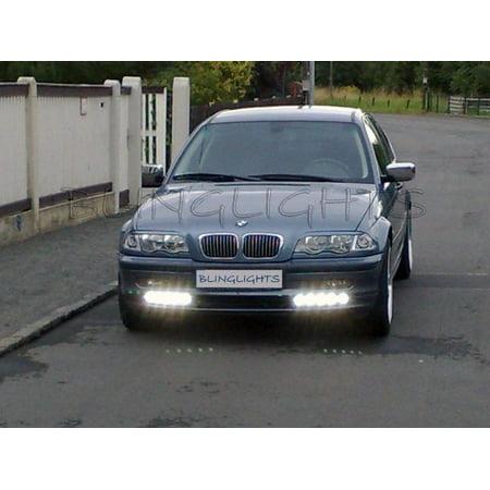 1998 1999 2000 BMW 328i 328Ci LED Day Time Running Strip Lights Headlamps Headlights Head Lamps DRLs ()