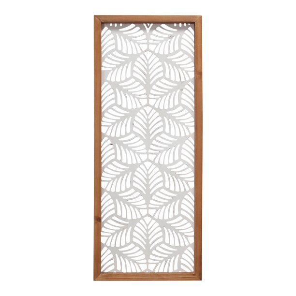 Stratton Home Decor Carved Leaf Wood Wall Panel Walmart Com Walmart Com