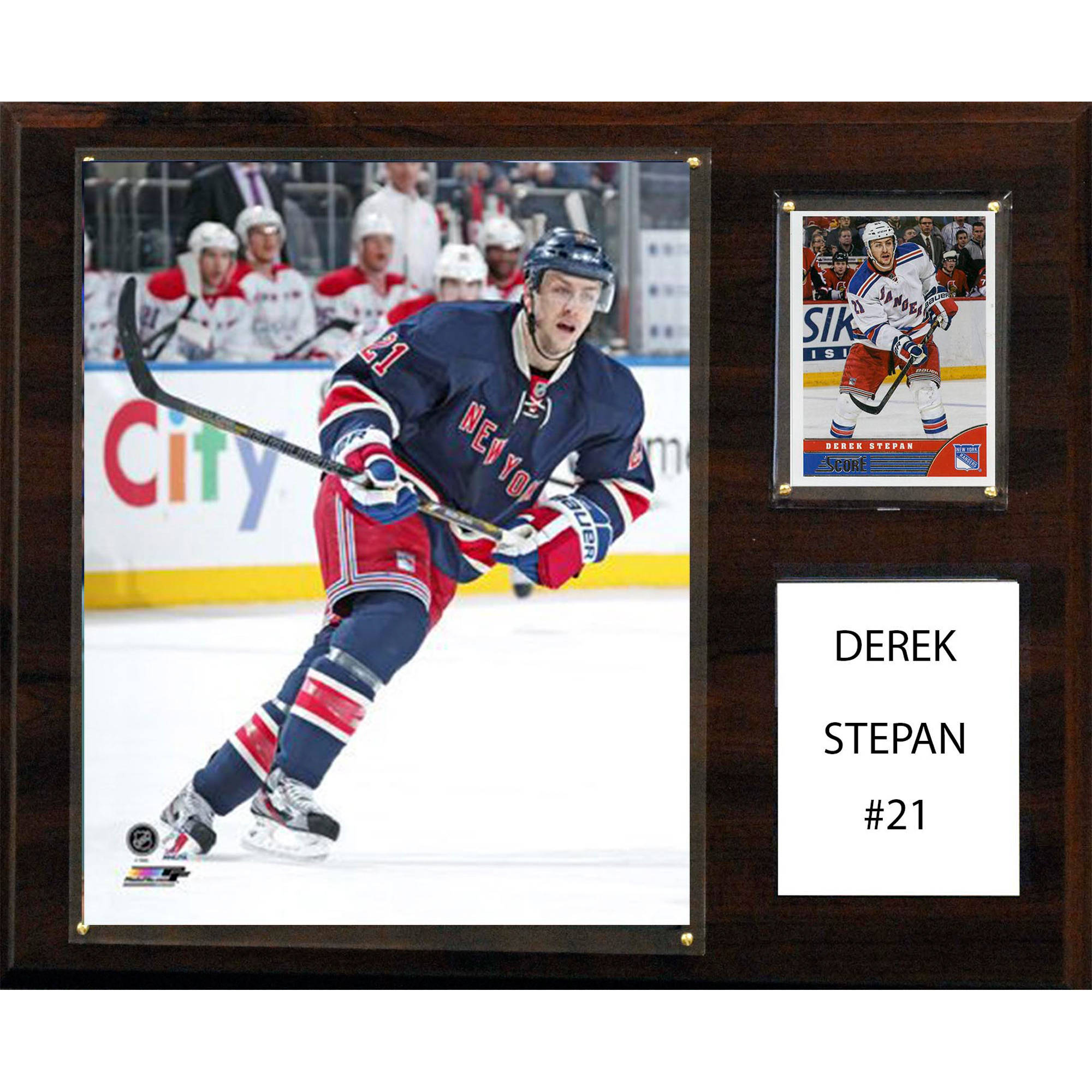 C&I Collectables NHL 12x15 Derek Stepan New York Rangers Player Plaque
