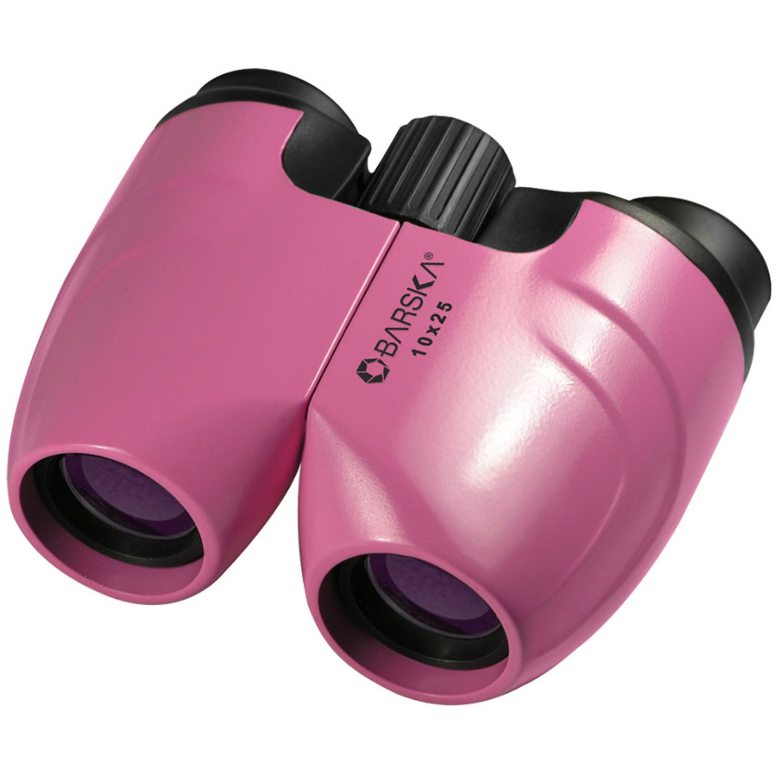 Barska CO10696 10X25 Waterproof BK-7 Prism Compact Blue Lens Yellow Binoculars