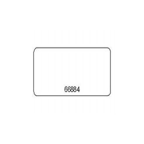 Zebra PolyPro 4000T - Matte permanent acrylic adhesive polypropylene labels - wh