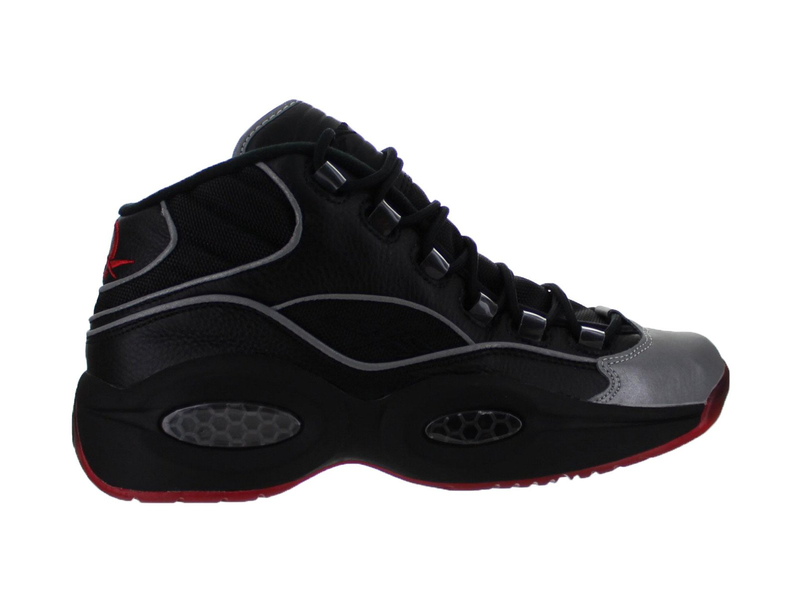 Mens Reebok Question MID A5 Jadakiss Black Silver Red BD4152 by Reebok