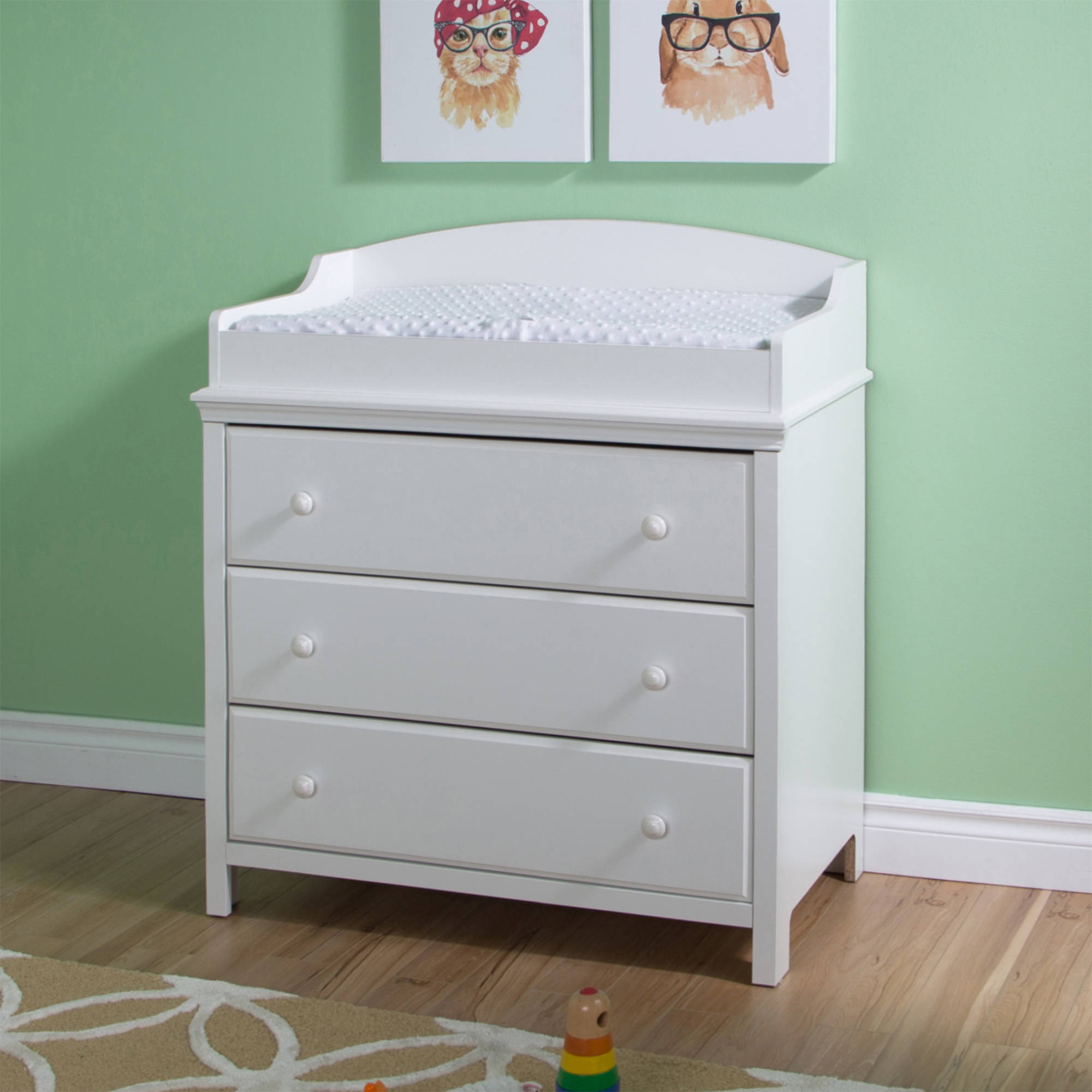 South Shore Cotton Candy Changing Table with Drawers, Multiple Finishes
