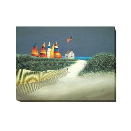 Breakwater Bay Summer Rentals Oil Painting Print On Wrapped Canvas