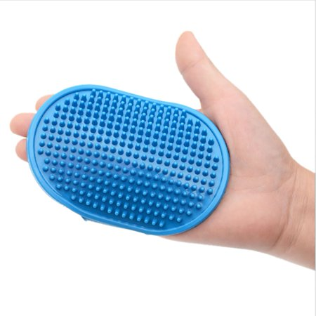 Rubber Grooming brush For Dog Cat - Pet Bath Brush Wash Comb with Loop Handle, Pet Bathing Massage