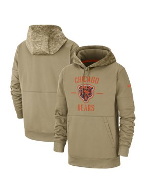Chicago Bears Nike 2019 Salute to Service Sideline Therma Pullover Hoodie - Tan