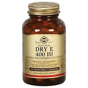 Solgar - sec Vitamine E 400 UI capsules végétales (d-Alpha Tocophérol Succinate) - 50