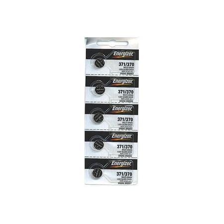 Energizer 371/370 - SR920 Silver Oxide Button Battery 1.55V - 5 Pack + Free Shipped