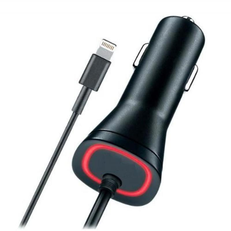 Apple Certified Lightning Car Charger for iPhone SE/5S/6/6S/6 Plus/6S Plus/iPad