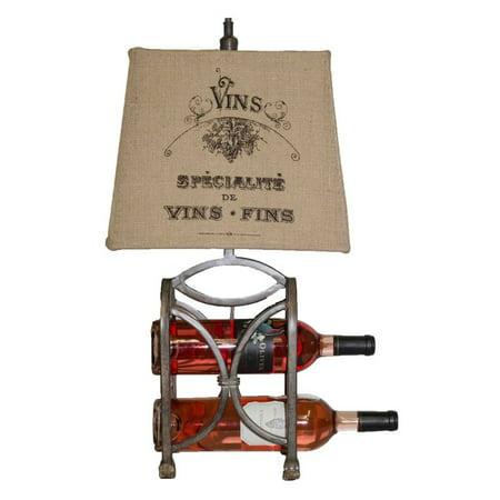 A Homestead Shoppe Le Bon Vin Wine Rack Table (Wine Rack Lamp Table)