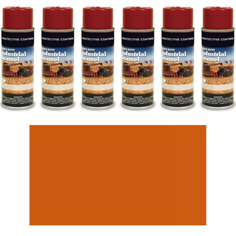 TP370SP Six (6) Cans of Kubota Orange # 1 Spray Paint