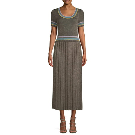 Sui by Anna Sui Women's Striped Trim Knit Dress