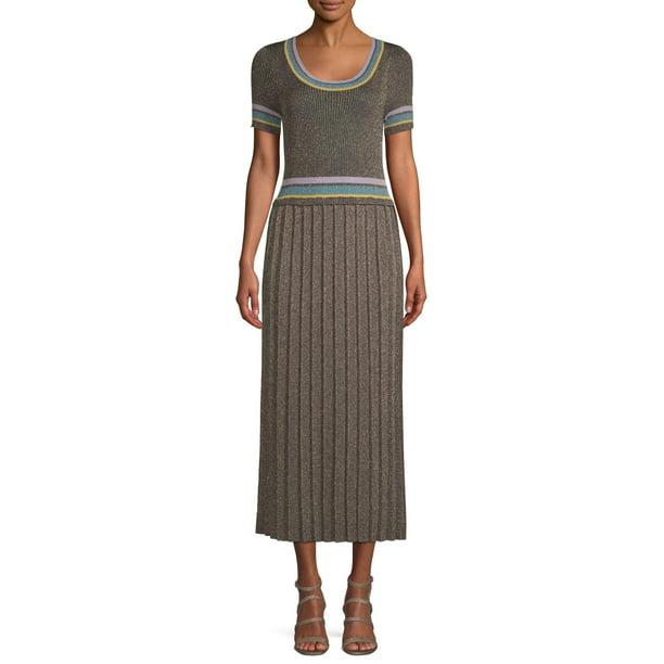 dress sale : Sui by Anna Sui Women's Striped Trim Knit Dress