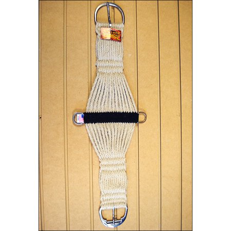 Roper Cinch (34 in. HILASON MOHAIR HORSE ROPER CINCH 27 STRAND SS ROLER BUCKLE MADE IN THE)