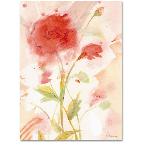 "Trademark Fine Art ""Wild Rose"" Canvas Wall Art by Sheila Golden"
