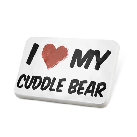 Porcelein Pin I Love my Cuddle Bear Lapel Badge – NEONBLOND