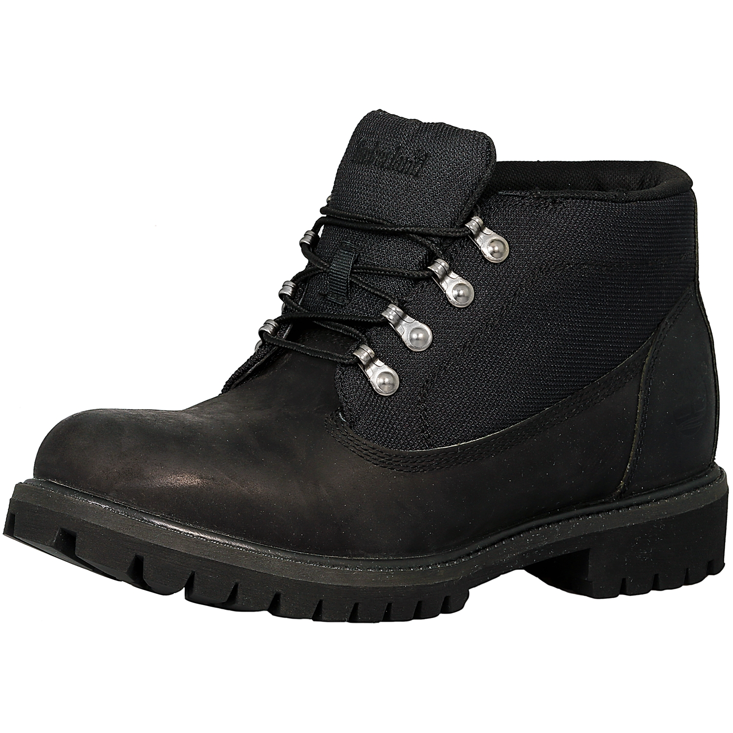 Timberland Men's Earthkeepers Campsite Leather Textile Black High-Top Leather Hiking Boot 8.5M by Timberland