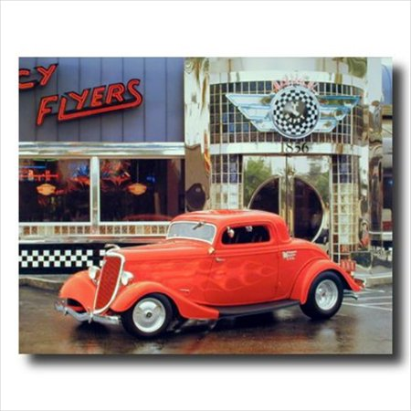 Diner Scroll (Street Rod Car Old Cafe Diner Wall Picture Art Print)