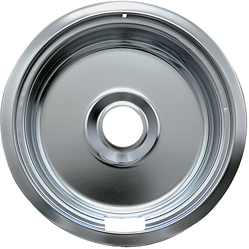 Range Kleen 1 Small Drip Bowl, Style F fits Canadian Plug-In Electric Ranges Camco/KitchenAid, Chrome