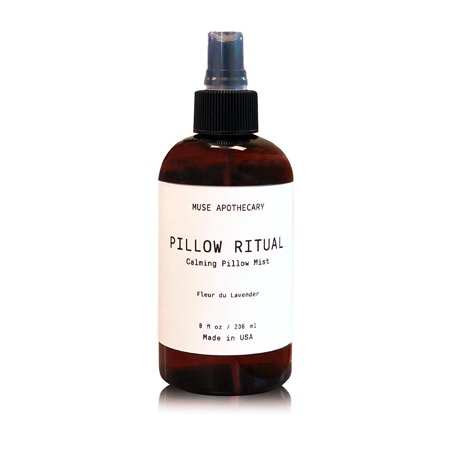 Muse Bath Apothecary Pillow Ritual - Aromatic and Calming Pillow Mist, 8 oz, Infused with Natural Essential Oils - Fleur du Lavender ()