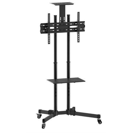 "Multifunctional TV Cart/Trolley with Shelf • Suggested Screen Size: 37"" – 70"" • Max VESA 600x400mm • Raged load: 110 lb, Tilt: +10°~ (Tilting Load)"