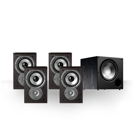 Polk Audio Bundle With 4 TSi100 Bookshelf Speakers And 1 PSW108 Subwoofer