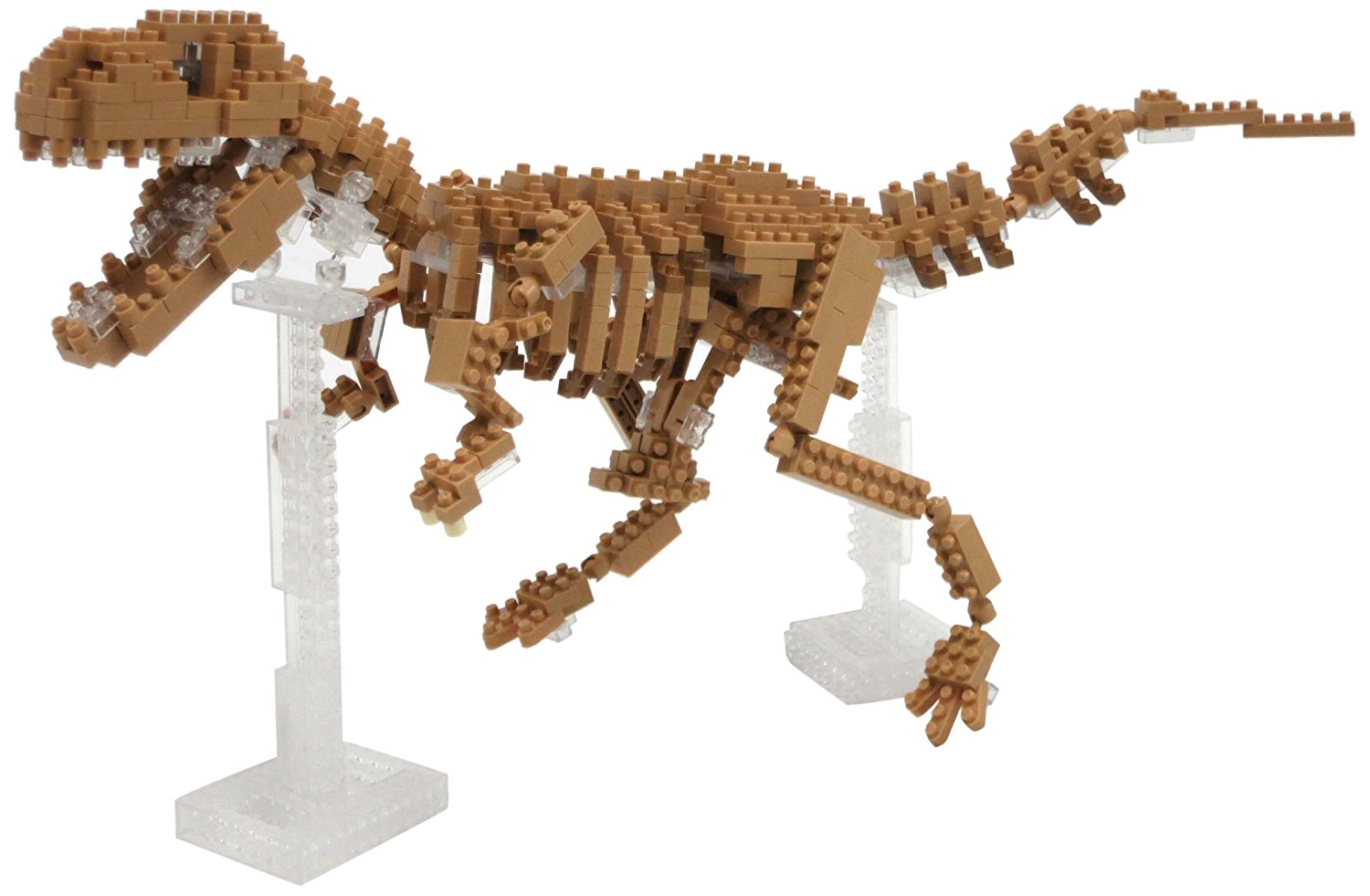 3d Puzzles For Girls, Over 600 Pieces Nanoblock T-rex Skeleton Jigsaw Puzzle 3d by BY-NANOBLOCK