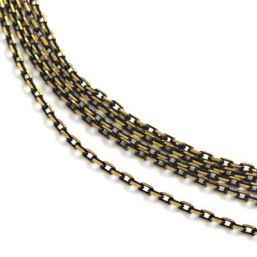 Small Chain, Black/Gold